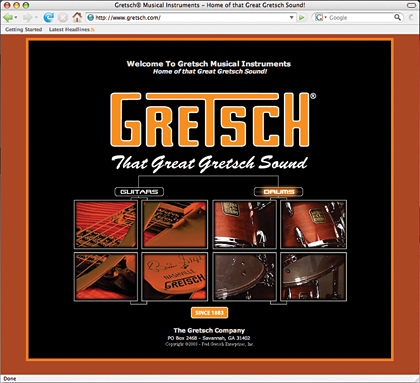 Gretsch Website